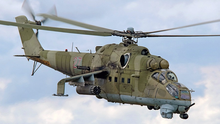7-jun-83 this mi-6 heavy transport helicopter made emergency landing in lashkargah ab and caused fire